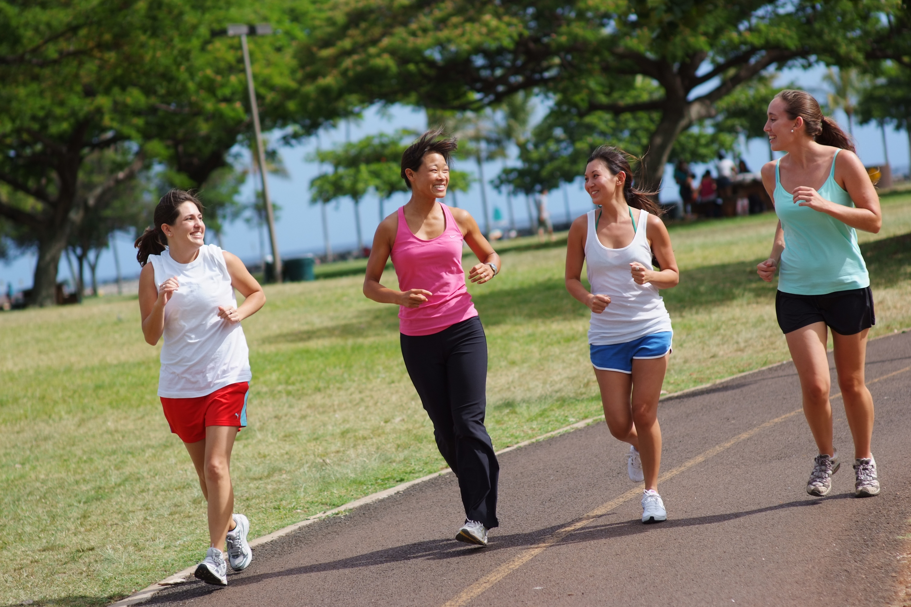 exercise and jogging Walking, jogging, cycling, or swimming at an even pace are aerobic activities activities in which your body tends to go anaerobic more quickly include wind sprints and weight lifting.