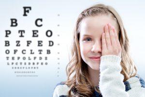 child and eye exam